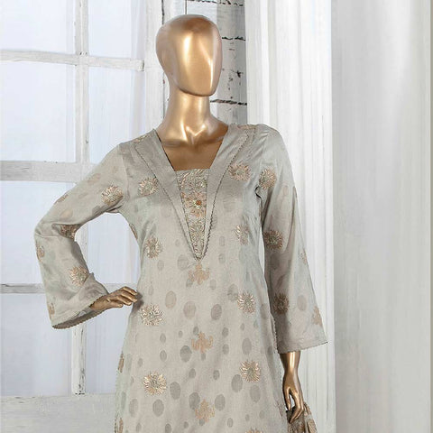 Amna Sohail Broshia Embroidered 3 Piece Un-Stitched Suit - 8634 A