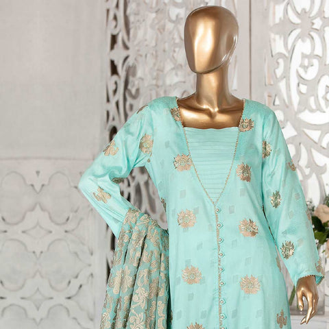 Amna Sohail Broshia Embroidered 3 Piece Un-Stitched Suit - 8634 B