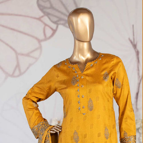 Amna Sohail Broshia Embroidered 3 Piece Un-Stitched Suit - 8635 A