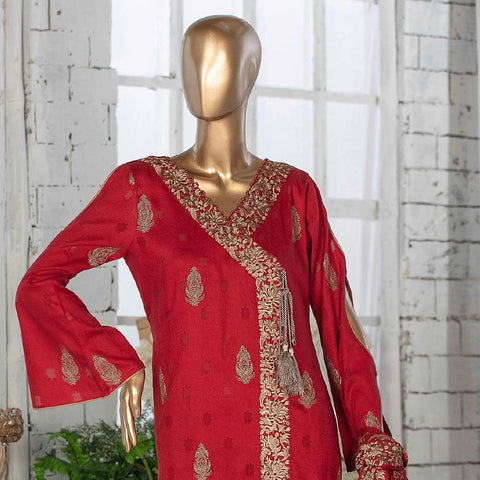 Amna Sohail Broshia Embroidered 3 Piece Un-Stitched Suit - 8635 B