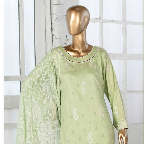 Amna Sohail Broshia Embroidered 3 Piece Un-Stitched Suit - 8636 A