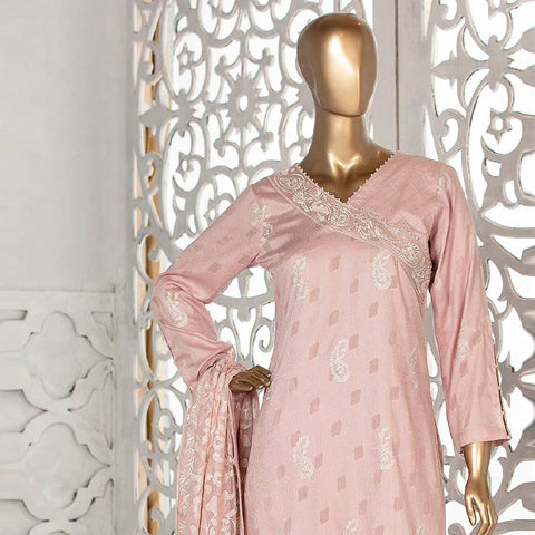 Amna Sohail Broshia Embroidered 3 Piece Un-Stitched Suit - 8636 B