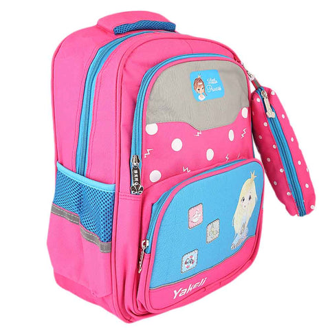 Kids School Bag (8835) - Pink - Blue