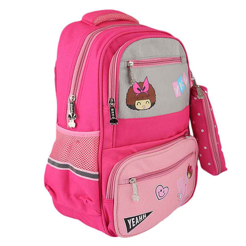 Kids School Bag (8851) - Pink