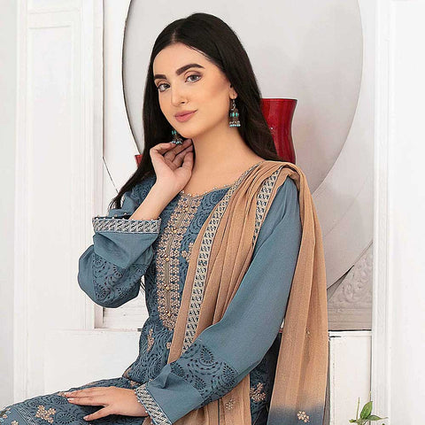Ophelia Embroidered Chikankari 3 Piece Un-Stitched Suit - 8881 B