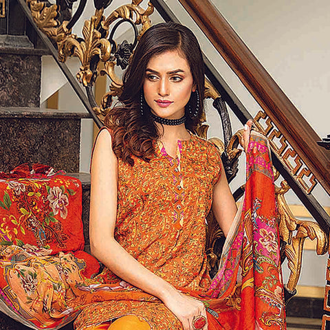 Masumery Embroidered Lawn 3 Piece Un-Stitched Suit Vol 17 - 08