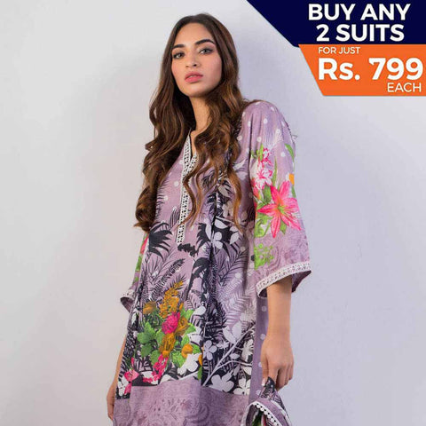 Sahil Printed Cotton 3 Piece Un-Stitched Suit Vol 3 - ZS 08