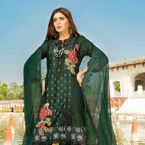 Shan-E-Mughal Embroidered Lawn Suit - 8 - test-store-for-chase-value