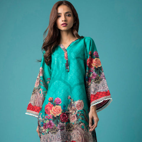 Chase Value Centre Printed Khaddar Un-Stitched Kurti Vol 2 - 08