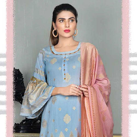Mahoor Embroidered Broshia Lawn 3 Piece Un-Stitched Suit - 08