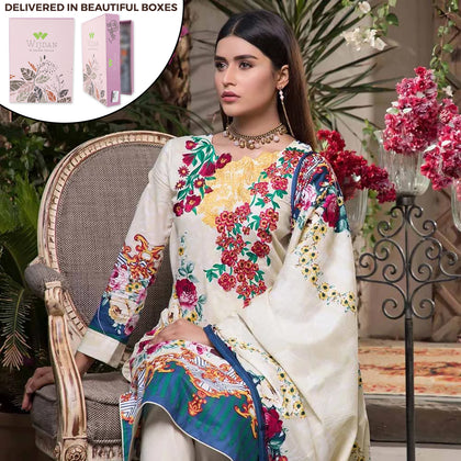 Noor Fatima Embroidered Lawn 3 Piece Un-Stitched Suit - B5