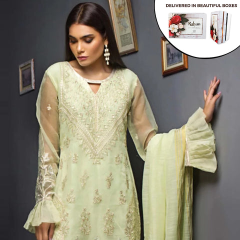 Kalyan Chiffon Embroidered 3 Piece Un-Stitched Suit - 05