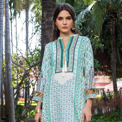 Anum Printed Lawn 3 Piece Un-Stitched Suit Vol 2 - 8 B