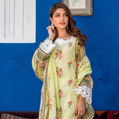 Regalia Digital Printed Embroidered Lawn 3 Piece Un-Stitched Suit Vol 2 - 9