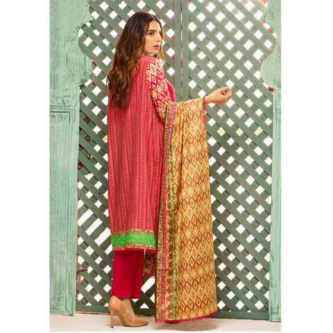 Sahil Printed Lawn 3 Piece Un-Stitched Suit Vol 1 - 9A