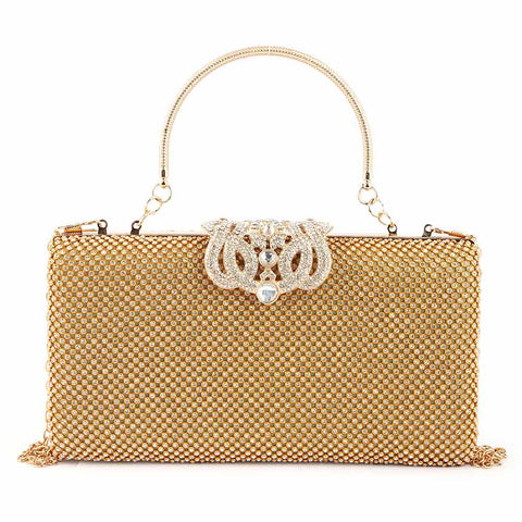 Women's Bridal Clutch (9115) - Gold