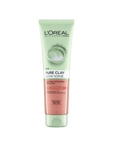 L'Oreal Pure Clay Exfoliating Face Wash Red Algae 150ml - test-store-for-chase-value