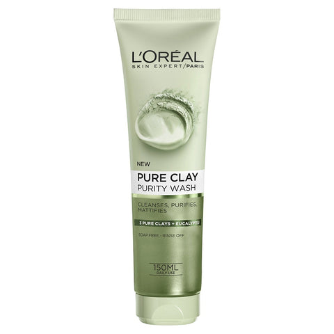 L'Oreal Pure Clay Purifying Face Wash Eucalyptus 150ml - test-store-for-chase-value