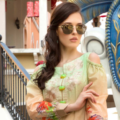 Salina Digital Embroidered Lawn 3 Piece Un-Stitched Suit Vol 1 - 01