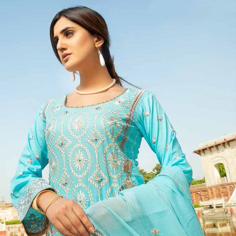 Shan-E-Mughal Embroidered Lawn Suit - 9 - test-store-for-chase-value