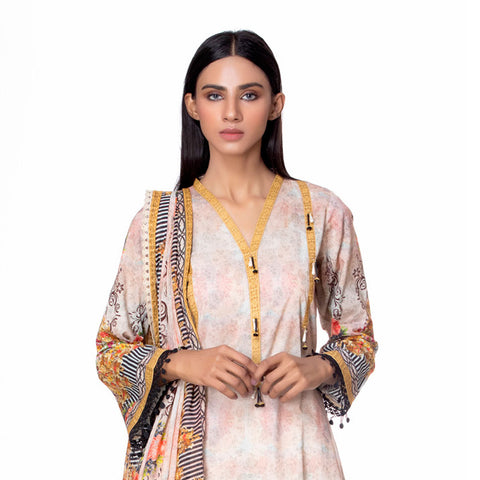Salina Pop Digital  Printed Lawn 3 Piece Un-Stitched Suit Vol 1 - 09