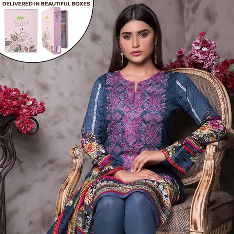 Noor Fatima Embroidered Lawn 3 Piece Un-Stitched Suit - B6