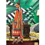 Signature Icon Printed Embroidered Lawn 3 Piece Un-Stitched Suit - 9 B