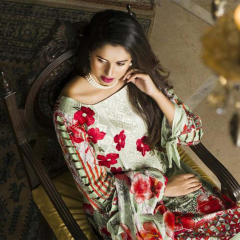 Libas Embroidered Printed Lawn 3 Piece Un-Stitched Suit Vol 1 - A2