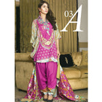 Libas Embroidered Printed Lawn 3 Piece Un-Stitched Suit Vol 1 - A3