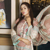 Libas Embroidered Printed Lawn 3 Piece Un-Stitched Suit Vol 1 - A4