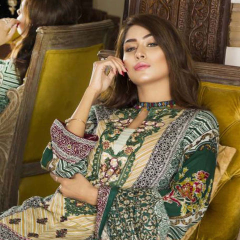 Libas Embroidered Printed Lawn 3 Piece Un-Stitched Suit Vol 1 - A6