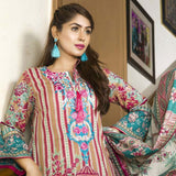 Libas Embroidered Printed Lawn 3 Piece Un-Stitched Suit Vol 1 - A8
