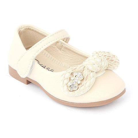 Girls Fancy Pumps (16H1) - Beige