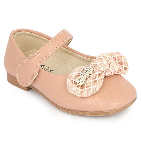 Girls Fancy Pumps (16H1) - Peach