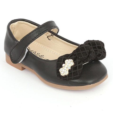 Girls Fancy Pumps (16H1) - Black