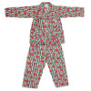 Girls Full Sleeves Night Suit - Multi