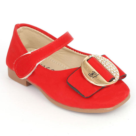 Girls Fancy Pumps (16H1) - Red