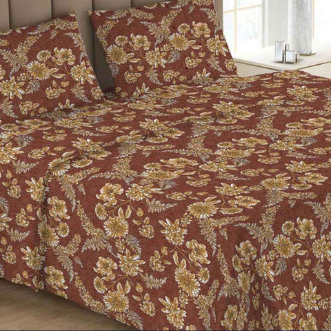Printed Double Bed Sheet - Multi