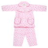 Girls Full Sleeves Night Suit - Pink