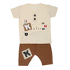 Boys Half Sleeves Suit  32784 - Fawn
