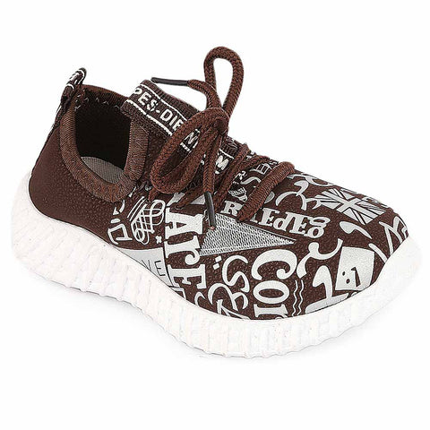 Boys Joggers Shoes - (AB-27) Brown