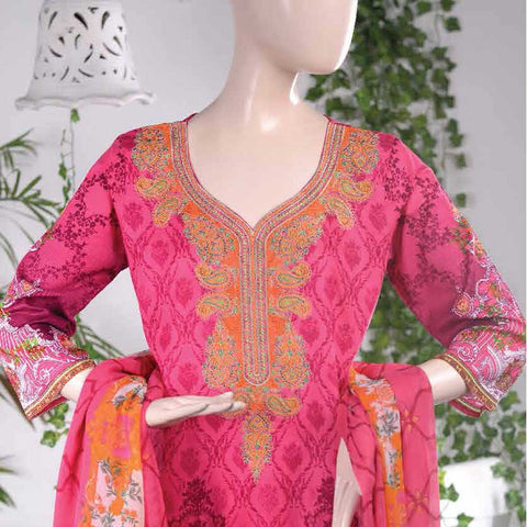 Aurora Embroidered Lawn Un-Stitched Suit - AR1A