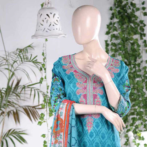 Aurora Embroidered Lawn Un-Stitched Suit - AR1B