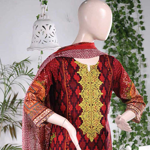 Aurora Embroidered Lawn Un-Stitched Suit - AR2A