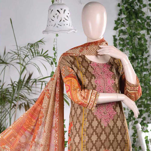 Aurora Embroidered Lawn Un-Stitched Suit - AR2B