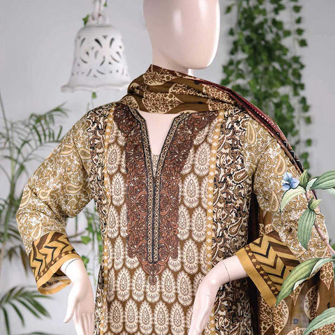 Aurora Embroidered Lawn Un-Stitched Suit - AR3A