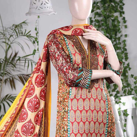 Aurora Embroidered Lawn Un-Stitched Suit - AR3B