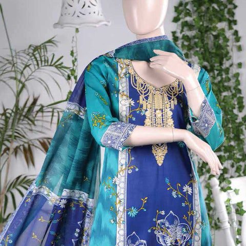 Aurora Embroidered Lawn Un-Stitched Suit - AR4B