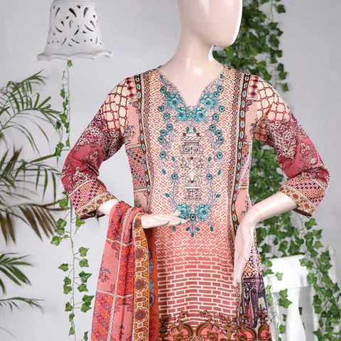 Aurora Embroidered Lawn Un-Stitched Suit - AR6A
