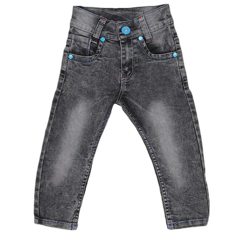 Boys Denim Pant - Dark Grey